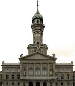 Demain, le Parlement suisse surmonté d'un minaret ? C'est en tout cas l'avenir que prédisaient des partisans de l'initiative avec ce montage photographique, si celle-ci ne passait pas ! (photo : Flickr)