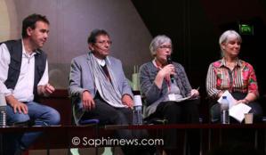De gauche à droite, le père Eric Morin; Miloud et Jacqueline Miraoui, fondateurs du GFIC et Dominique Fonlupt-Achbarou, membre du GFIC.