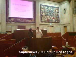 Loubna Ahmed El Hussein à la tribune du CESE.