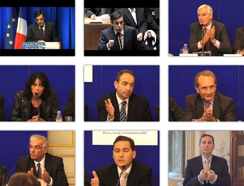 Copie d'écran de la page d'accueil de la vidéothèque du site www.debatidentitenationale.fr