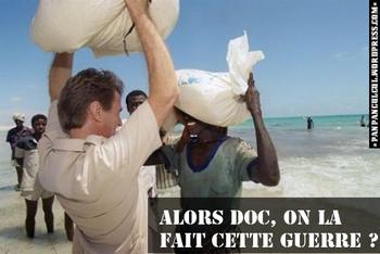 Somalie : l'ingérence humanitaire, selon Kouchner. (Photo : PPCC)