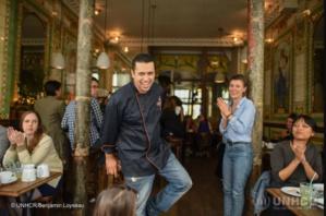 Mohammad Elkhaldy, ancien chef star du petit écran syrien, a participé au Refugee Food Festival en juin 2016.
