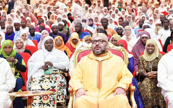 Le roi a inauguré, vendredi 20 octobre, l'extension de l'institut Mohammed VI de formation des imams, des prédicateurs et prédicatrices à Rabat. © MAP