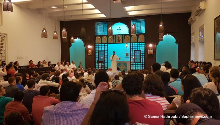 Jean Druel et Pr Oussama Nabil sont intervenus au sein de l'Institut dominicain des études orientales du Caire, durant la semaine de rencontre œcuménique qui a réuni 200 jeunes chrétiens en Égypte, fin septembre 2017.