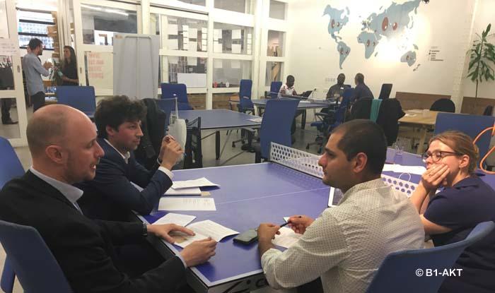 Séance de mentoring dans le cadre du programme européen Migrant Integration Lab de la société B1-AKT.
