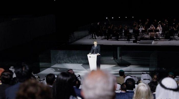 En déplacement aux Emirats arabes unis, Emmanuel Macron a inauguré, mercredi 8 novembre, le Louvre Abu Dhabi. © Présidence de la République