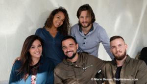 L'équipe de la pièce de théâtre « Les gens heureux ne tombent pas amoureux », de Yannick Schiavone.