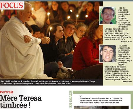 Copie d'écran du nouveau mensuel gratuit « L'1visible », destiné aux 26 millions de Français qui se déclarent catholiques.