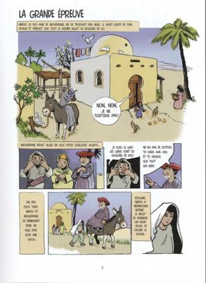 Extrait de la BD « Où vas-tu Nasreddine ? » de Patrice Zeltne. (photo © D. R.)