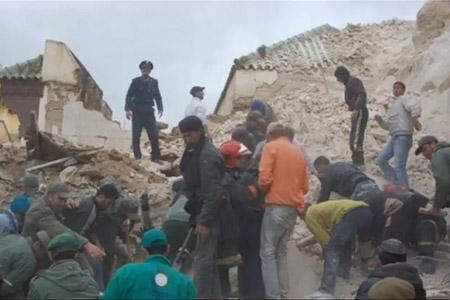 L'effondrement du minaret de la mosquée de Meknès, qui a causé la mort de 41 personnes vendredi 19 février, met les autorités dans l'embarras. (Reuters)