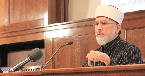 Muhammad Tahir-ul-Qadri, fondateur du Minhaj-ul-Quran, basé à Londres.