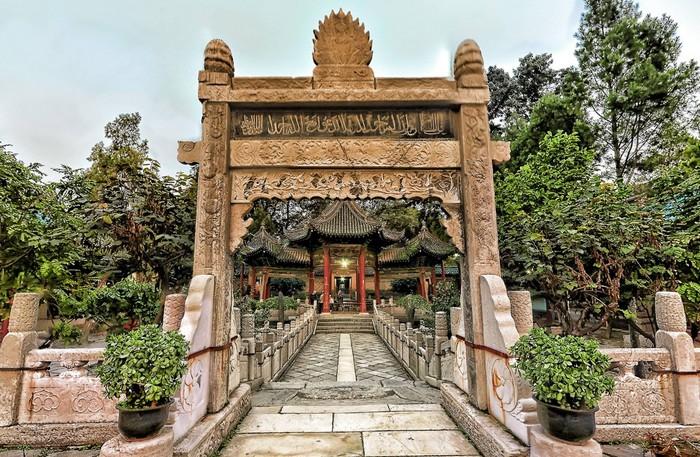 La Grande Mosquée de Xi'an, une ancienne capitale de la Chine impériale qui fut l'un des points de départ de la Route de la soie, est l'une des plus anciennes et les plus renommées de l'Empire du Milieu. © 360Cities