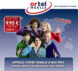 Appels internationaux : Ortel Mobile déboule en France