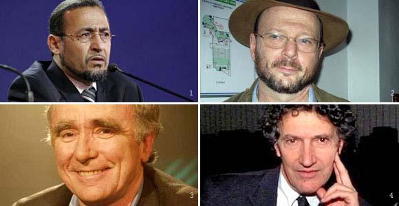 Tareq Oubrou (1), Rivon Krygier (2), Jean-Claude Guillebaud (3) et Olivier Abel (4)... qu'ils soient musulman, juif, catholique ou protestant, ils disent non à l'homophobie.