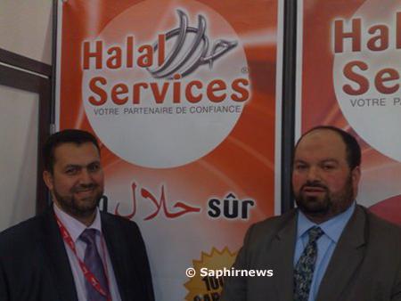 M'hamed Abdou Benmaamar (à g.) et Khaled Bouchama, respectivement responsable du département des produits carnés et responsable de la communication de Halal Services.