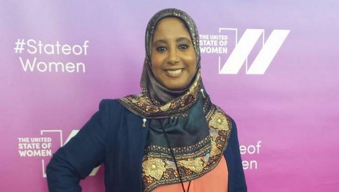 Hind Makki est une militante américaine engagée sur l'interreligieux et la place des femmes dans les mosquées et associations musulmanes. © Samia Hathroubi