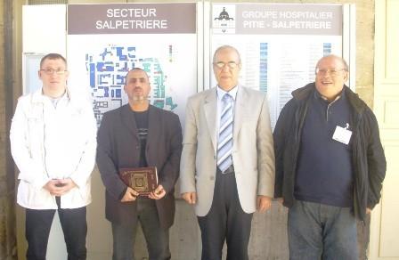 Abdelkader Khali (à dr.), responsable du Collectif des aumôniers musulmans des hôpitaux de Paris (AP-HP) aux côtés de ses collègues Tahar Mohamed Benakila, Abbas Abdennour et Mohammed Azizi (de g. à dr.).