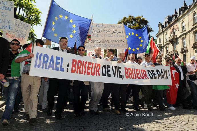 Strasbourg : près de 4 000 personnes devant le Conseil de l'Europe pour le respect du droit international à Gaza