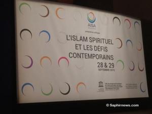 Dans le cadre de la campagne « Désir de paix » menée par AISA, plusieurs évènements ont été organisés. Ici, le colloque « L'islam spirituel et les défis contemporains » au siège de l'UNESCO à Paris, les 28 et 29 septembre 2016, au cours duquel un appel au soutien à la Journée internationale du vivre-ensemble a été lancé.
