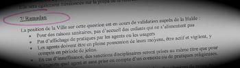 Extrait du compte rendu du 7 mai 2010 de la Commission Jeunesse et sports de la mairie de Roubaix.