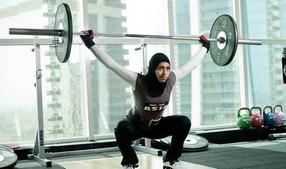 L'ancienne haltérophile des Emirats Arabes Unis, Amna Al Haddad