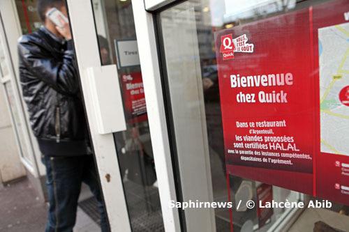 Le restaurant Quick d'Argenteuil, une des cibles de la vindicte de l'élu UMP Charles Aslangul, en croisade anti-halal, une recette éprouvée par les politiques en mal de notoriété médiatique.