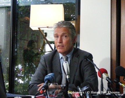 Jacques-Edouard Charret, président du groupe Quick France, a annoncé mardi 31 août l'ouverture de 14 nouveaux restaurants halal.