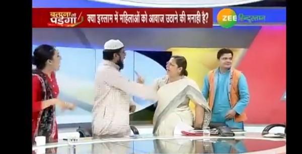 Inde : un religieux arrêté après avoir agressé une femme en direct d'un débat (vidéo)