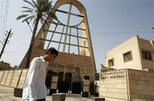 Eglise catholique syriaque Sayidat al-Najat, à Bagdad, qui a subi une attaque et une prise d'otages, le 31 octobre 2010, faisant plus de 50 morts et une soixantaine de blessés. (Ici, photo de 2008.)