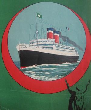 Affiche du paquebot Sinaï datée de 1940. © Archives nationales d'Outre-mer à Aix-en-Provence