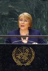 Michelle Bachelet, ancienne présidente du Chili, à la tête d'ONU Femmes (Photo : Nations unies).