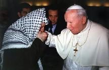 Arafat et le Pape Jean Paul II