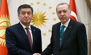 Sooronbai Jeenbekov et Recep Tayyip Erdogan © AKP/Twitter