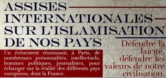 Un extrait de l'affiche des « Assises de l'islamisation de l'Europe »
