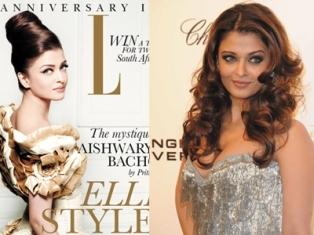 La peau d'une actrice indienne blanchie par le magazine Elle