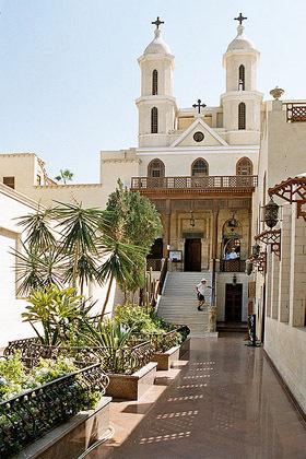 Eglise copte, dans le Vieux Caire, en Egypte.