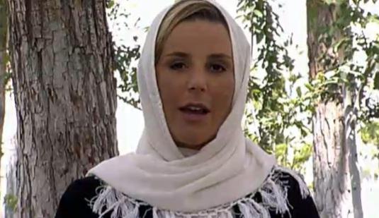 Laurence Ferrari, voilée lors d'un entretien télévisé avec le président iranien, a fait le buzz en juin 2010.