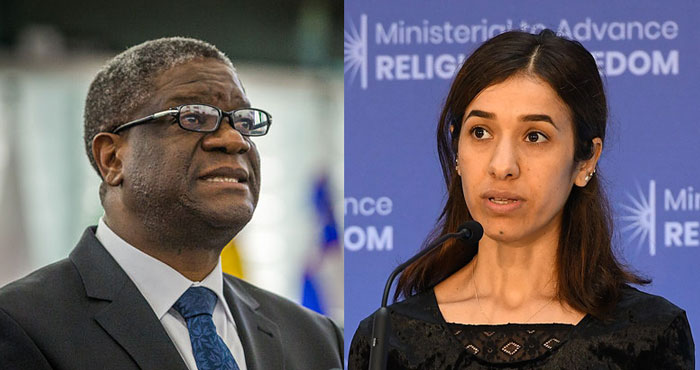Le médecin congolais Denis Mukwege et la porte-parole de la communauté yézidie Nadia Murad se sont vu décerner le prix Nobel de la paix 2018.