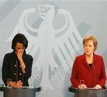 Condoleeza Rice et Angela Merkel