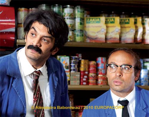 « Halal police d'État », de Rachid Dhibou, et avec Éric et Ramzy en tête d'affiche, sortira le 16 février 2011. Et que voit-on en arrière-plan ?