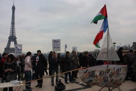 Un tour de France pour la campagne du bateau pour Gaza