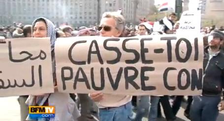 « Casse toi, pauvre con ! » : sanctionné pour avoir manifesté sa solidarité aux Egyptiens