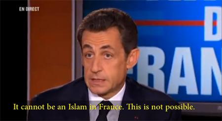Sarkozy ou l'instrumentalisation de l'islam à des fins politiciennes