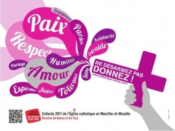 L'affiche d'appel au dons 2011 du diocèse de Nancy