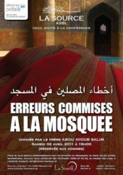 Publicité pour une conférence de Salim Abou Ayoub à Bruxelles le 2 avril prochain