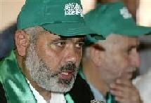 Ismaïl Haniyeh (premier plan)