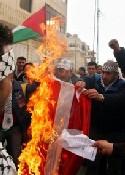 Palestine: on brûle le drapeau danois