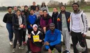 Ici lors d'une « course pour la dignité » en région parisienne le 6 mars.