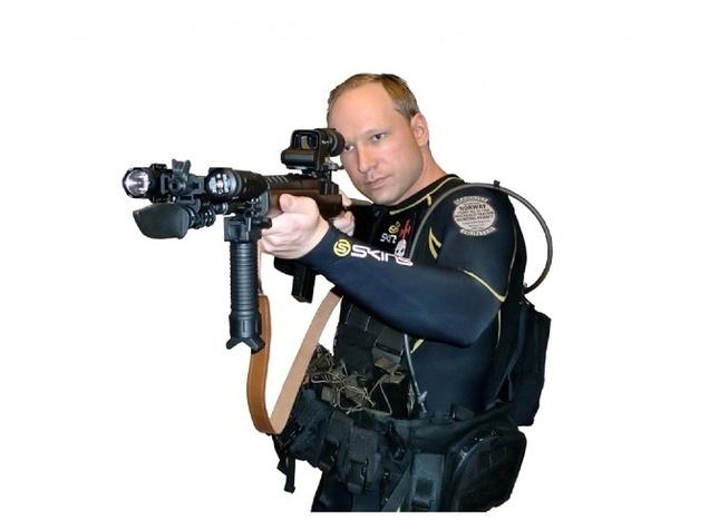 Anders Behring Breivik dans une photo glissée à la fin de sa vidéo diffusée sur internet