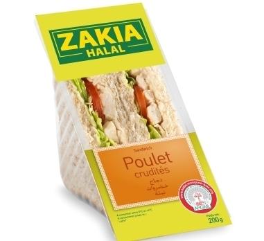 """Le nouveau sandwich """"poulet-crudités"""" Zakia"""